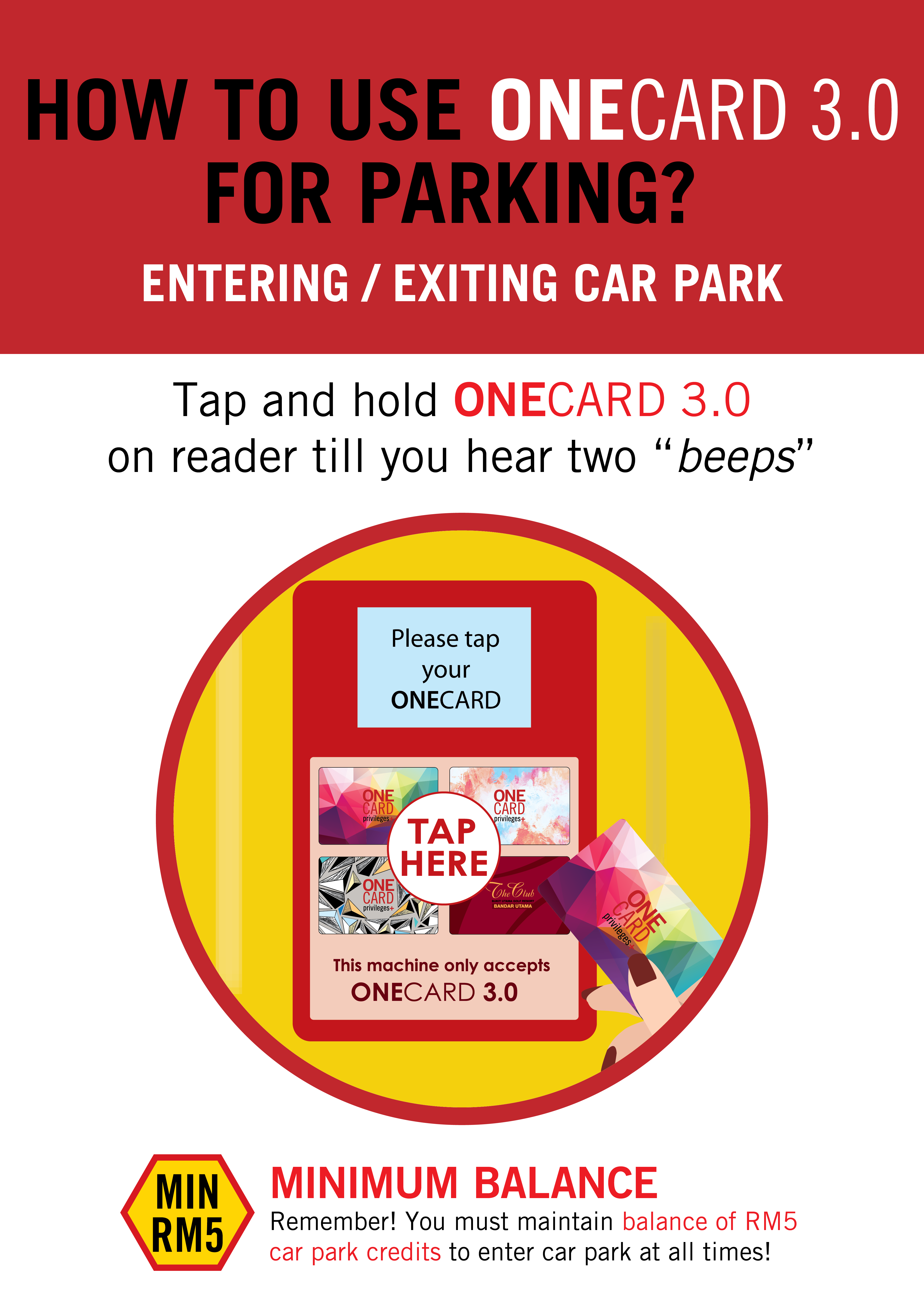 How to use ONECARD 3.0 for parking